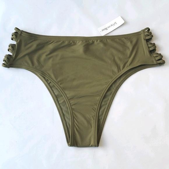 La Vie en Rose Aqua Army Green Bikini Bottom
